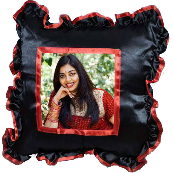 Personalized Customized Black Pillow with Cushion