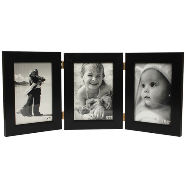 Three Folding Photo Frame - Black
