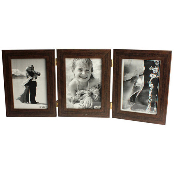 Three Folding Picture Frame - Brown