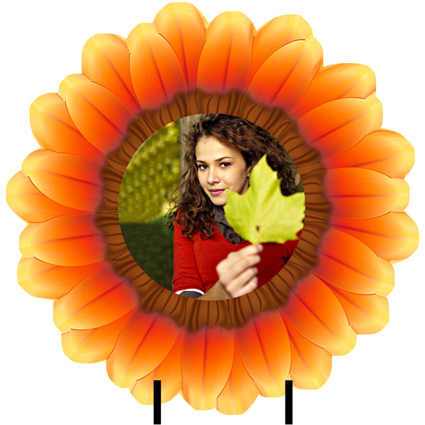 Personalized Sunflower Photo with Stand