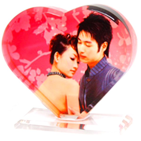 Personalized Heart Acrylic Photo Stand