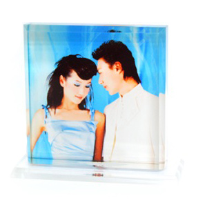 Personalized Square Acrylic Photo Stand