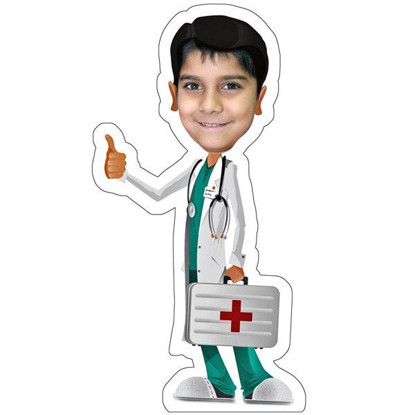 Personalized Doctor Caricature Photo Stand