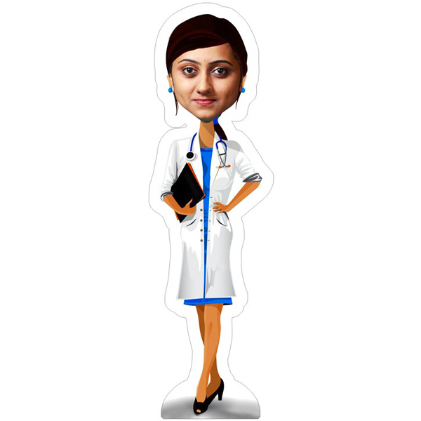 Personalized Nurse Caricature Photo Stand