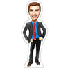 Personalized Casual Man Caricature Photo Stand