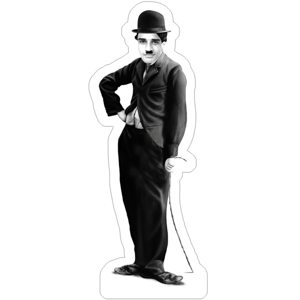 Personalized Charlie Chaplin Suit Caricature Photo Stand