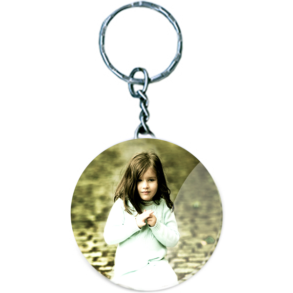 Personalized Round Acrylic Keychain