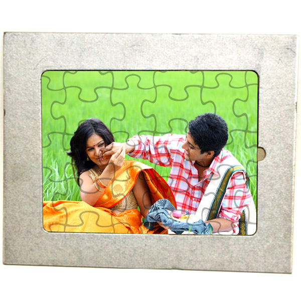 Personalized Frame Puzzle with Stand