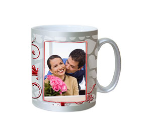 Personalized Silver Finish Mug