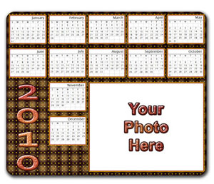 Personalized Calendar Mouse Pad