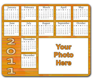 Personalized 2011Calendar Mouse Pad