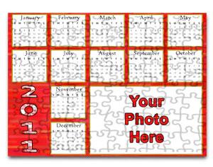 Personalized 2011 Calendar Puzzle