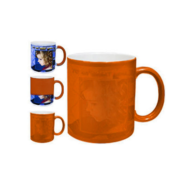 Personalized Color Changing Magic Photo Mug - Orange