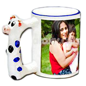 Personalized Animal Handle Photo Mug - Cow
