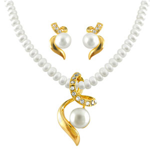 Pearl Sets-Jagdamba Aabha Pearl Pendent Set
