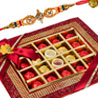 Gift Rakhi Greetings Platter on Rakhi