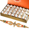Gift Haldirams Kaju Roll with Rakhi on Rakhi