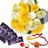 Gift Chocolates n Roses Hamper on Rakhi
