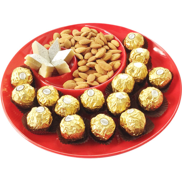 Royal Mithai Almond Platter