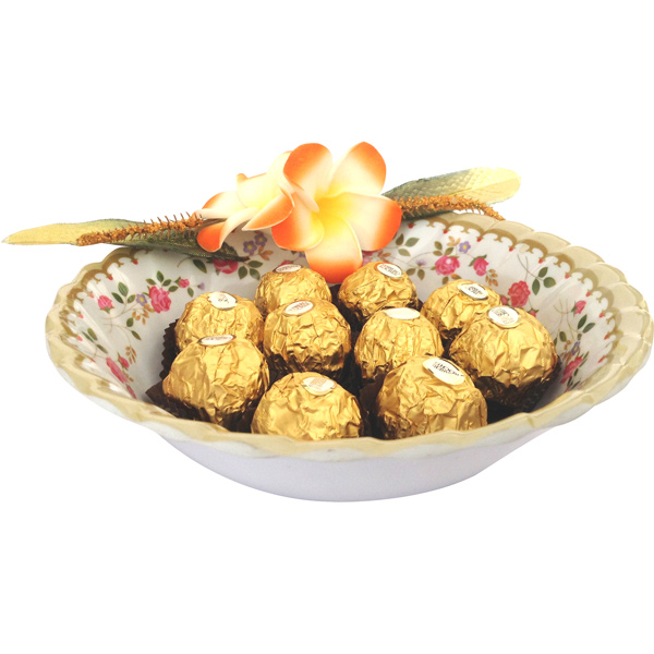 Ferrero in Floral Bowl