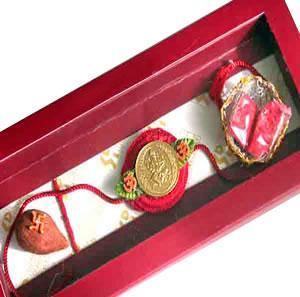 Gold Plated Ganesha Rakhi