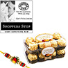 Gift Ferrero Rocher Hamper with Shoppers Stop Voucher on Rakhi