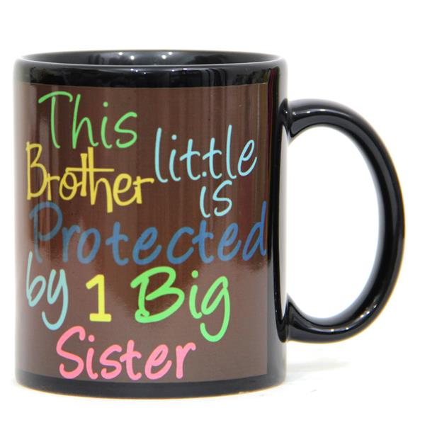 Wedding Gift For Elder Sister : Black Mug For Elder Sister India