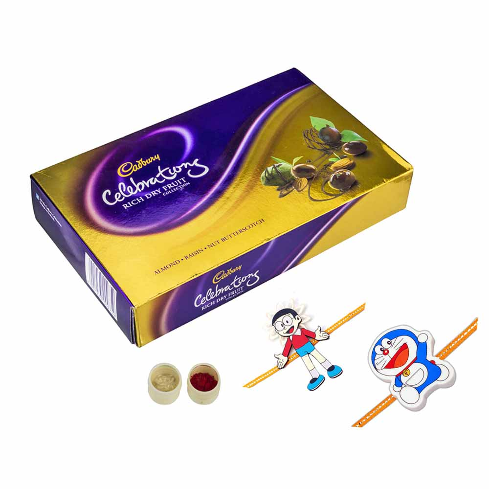 Rakhi Hampers-Celebrations n set of 2 kids rakhis