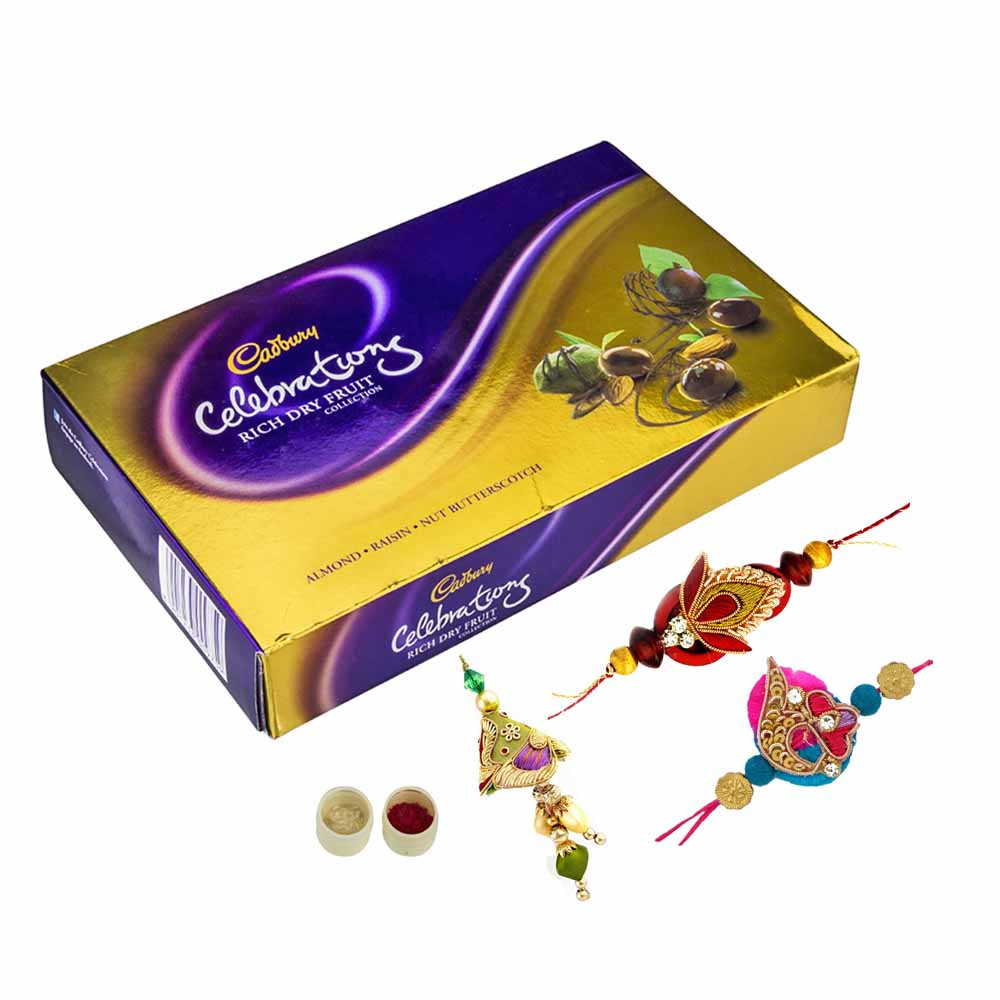 Rakhi Hampers-Celebrations n Family Rakhi Set