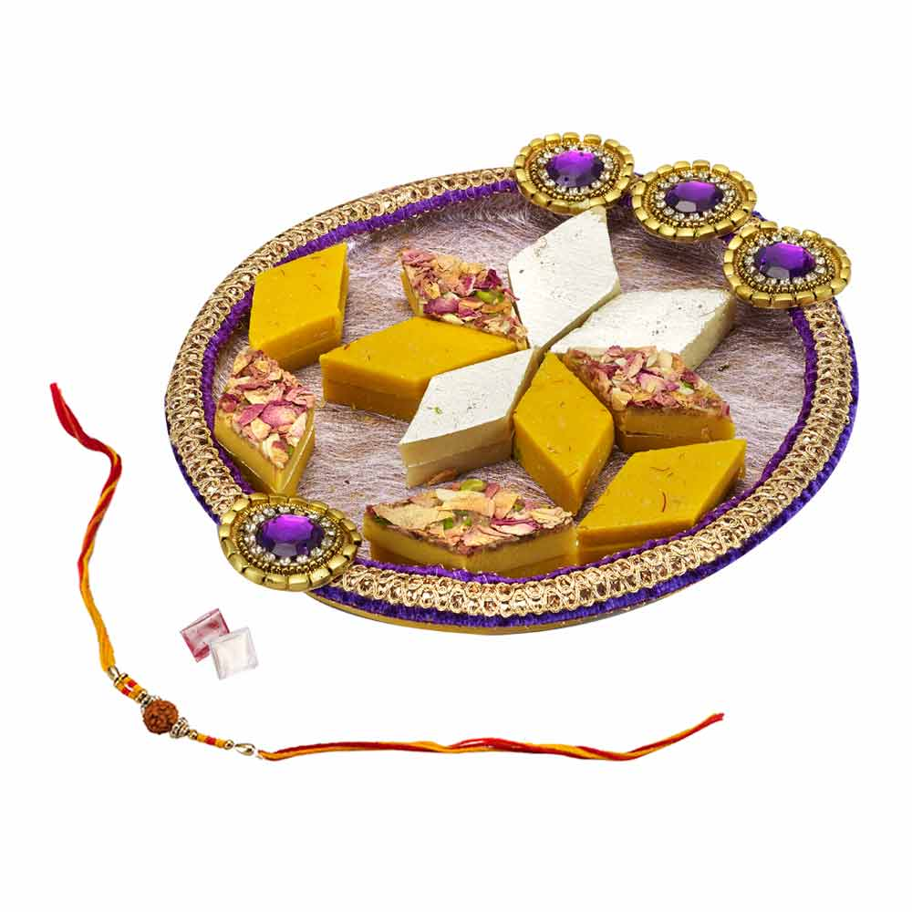 Gift Purple Treat on Rakhi