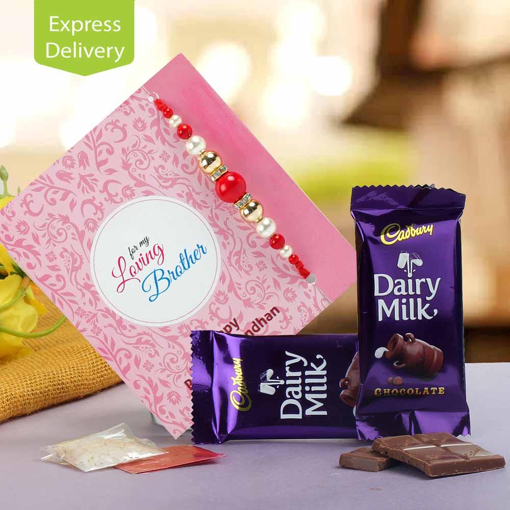 Dairy Milk & Rakhi Wishes