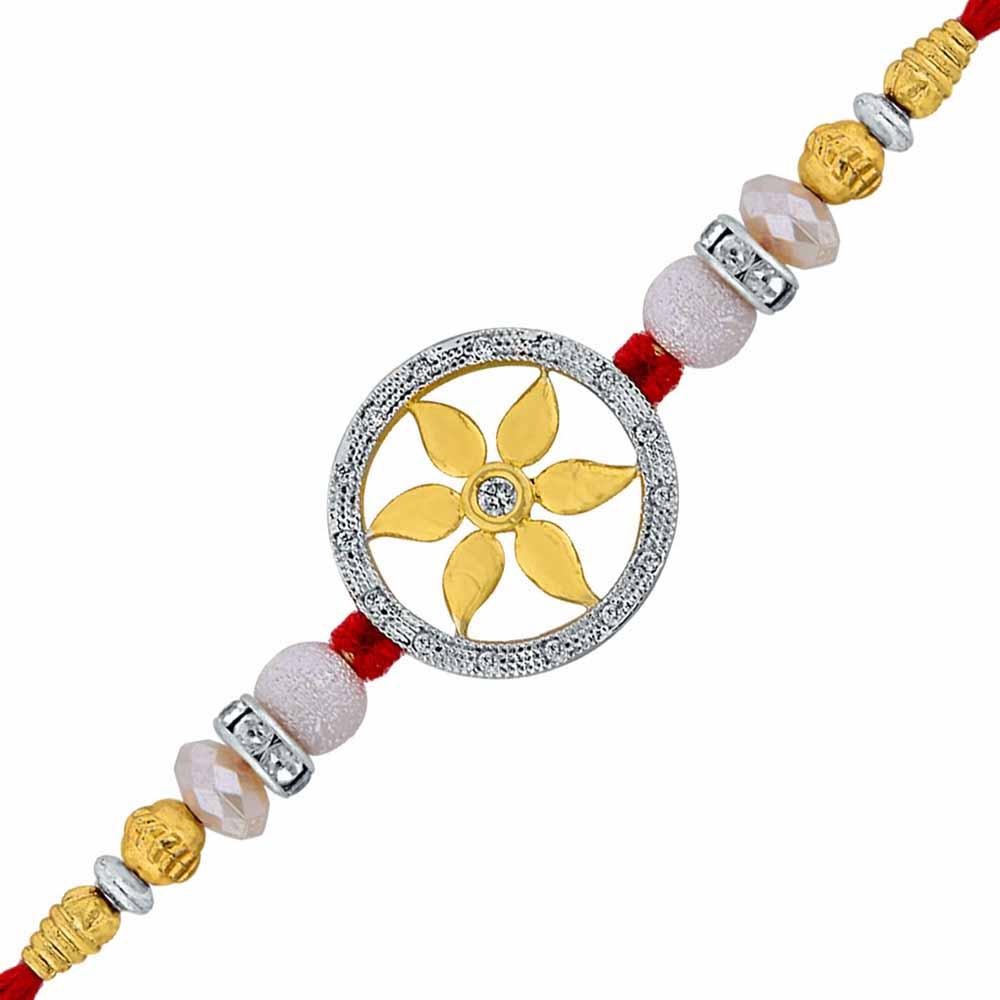 Sri Jagdamba Pearls Flower Rakhi