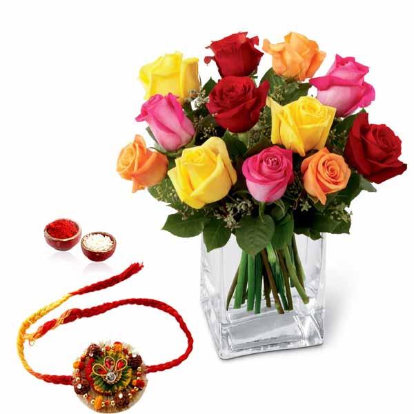 Mix Roses and Rakhi