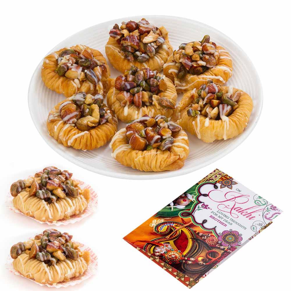 Bikanervala Almond Cashew Pista Baklava Delight