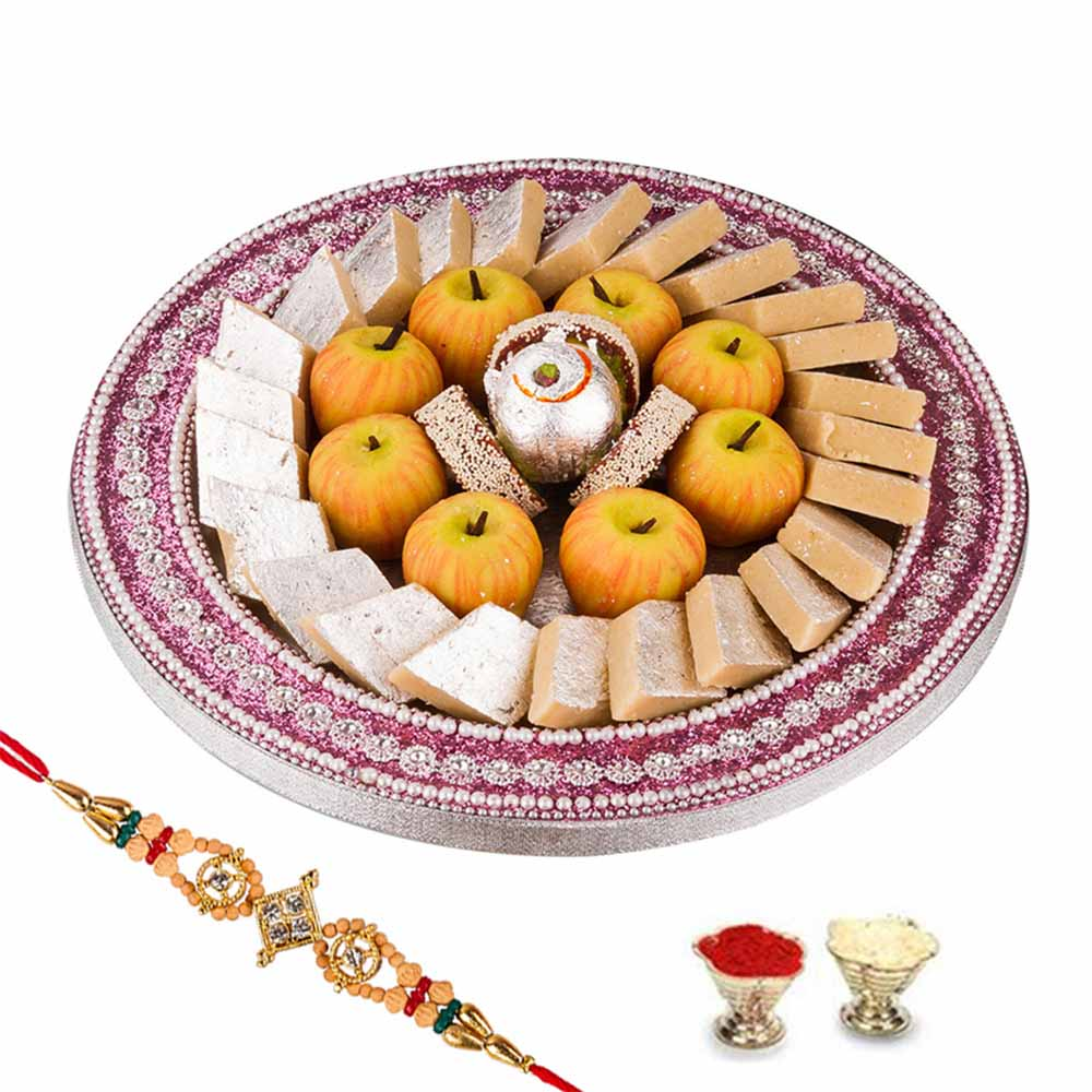 Rakhi Hampers-Bikanervala Rakshabandan Delights with family rakhi set