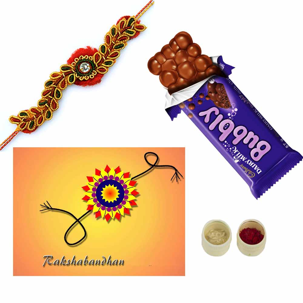 Bubbly Rakhi Greetings trio pack
