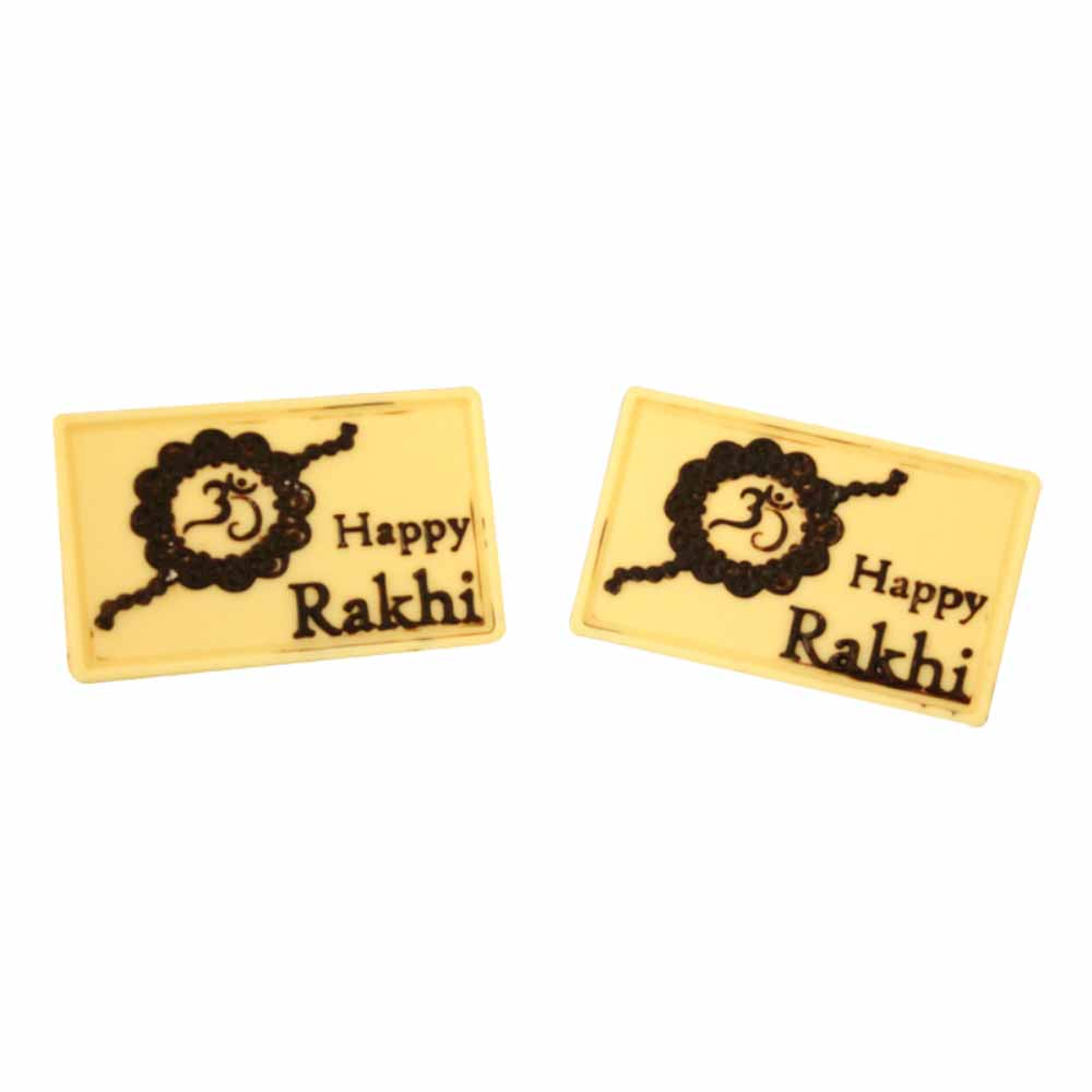 Rakhi Hampers-Bogatchi Twin white Happy Rakhi