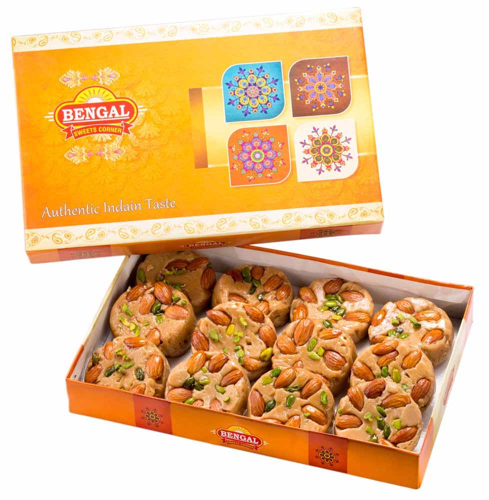 Assorted Mithai Boxes-Bengal Sweet's Sohan Halwa