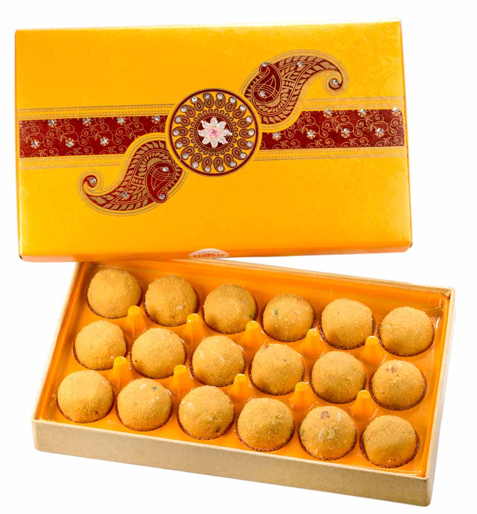 Assorted Mithai Boxes-Bengal Sweet's Simply Besan Ladoo