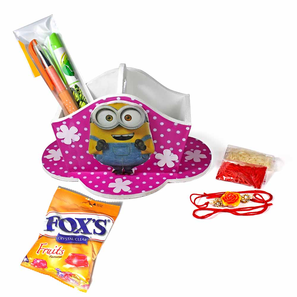 Bob The Minion Stationary Organiser (Medium)-Best Rakhi Gift for Brother and Sister