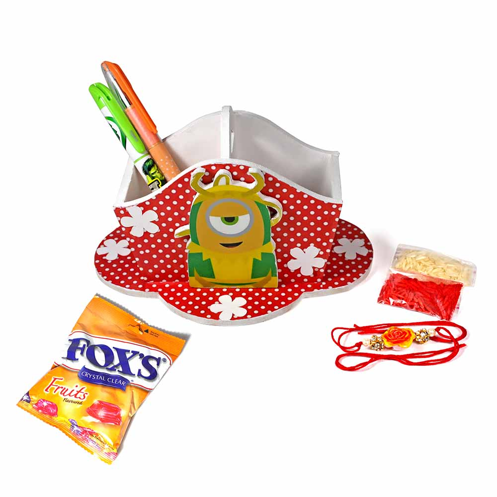 Avenger Minion Stationary Organiser (Medium)-Best Rakhi Gift for Brothers and Sisters
