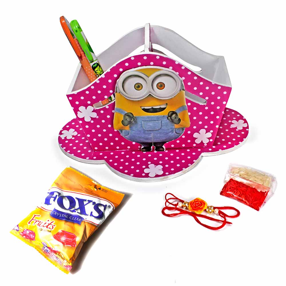 Bob The Minion Stationary Organiser (Big)-Best Rakhi Gift for Brother and Sister