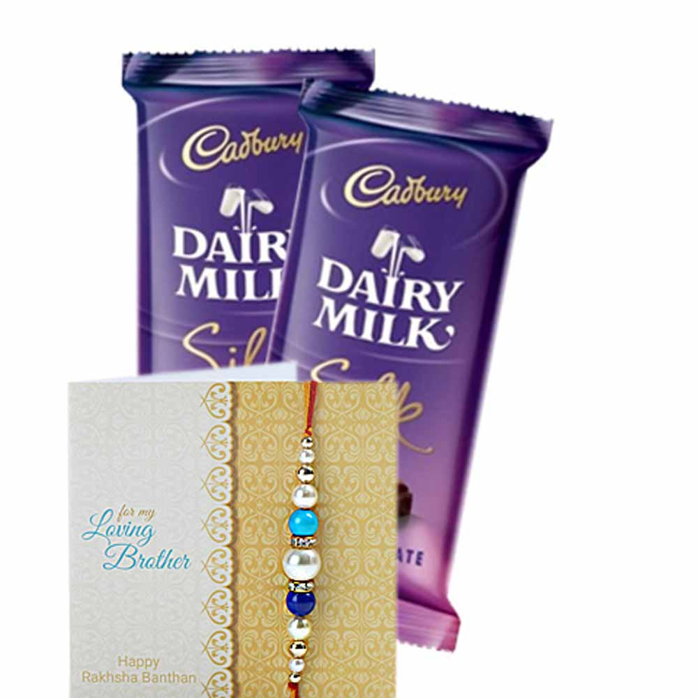 Two Rakhi with Chocolates