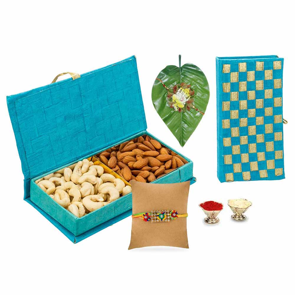 crunchy goody box with single rakhi