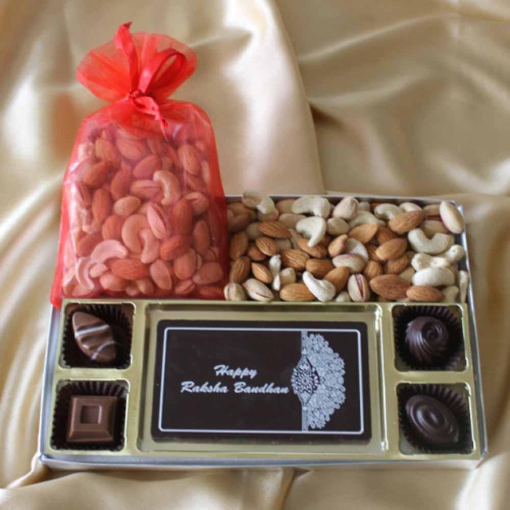Chocolates & Cookies-Rakhi Delight Chocolate Box