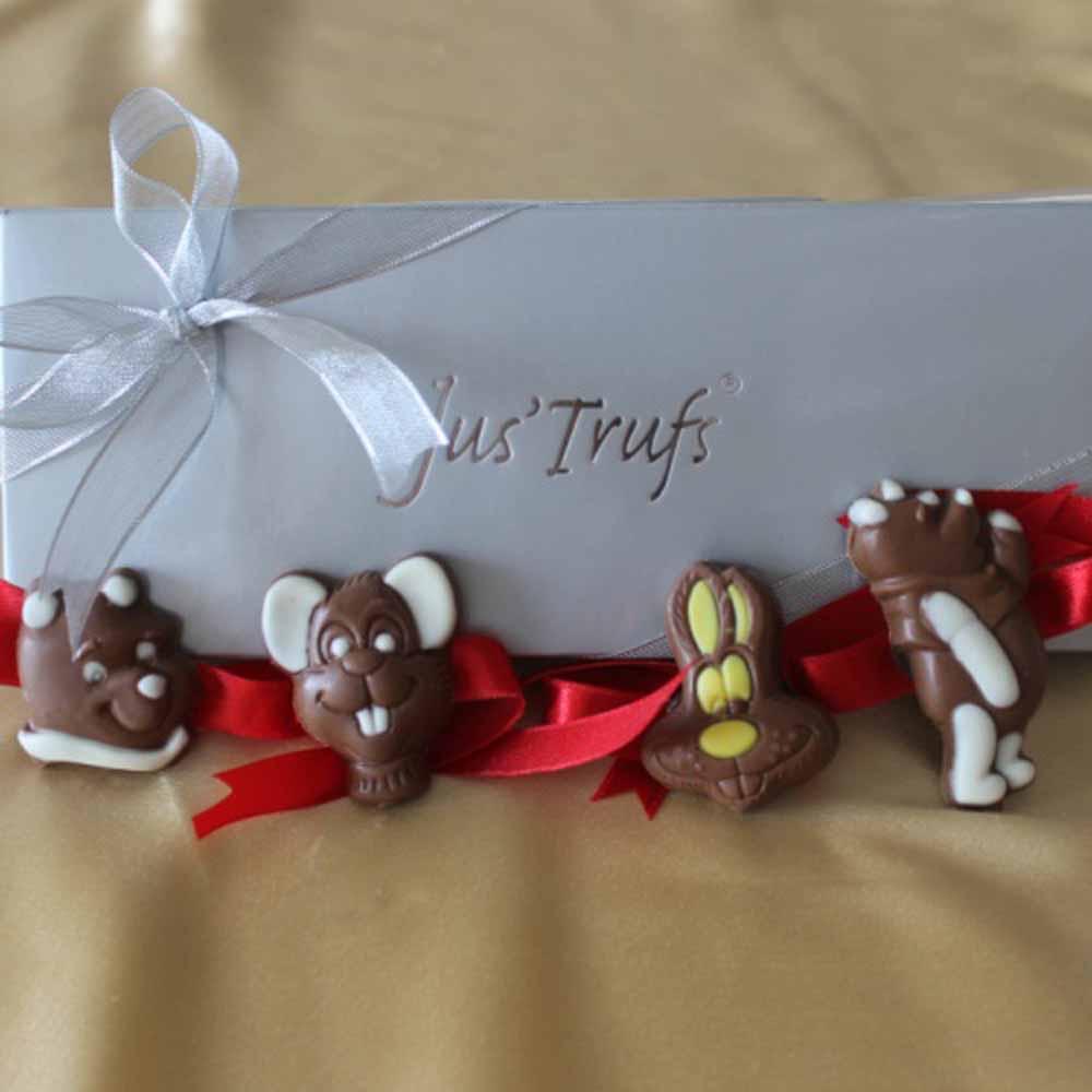 Cartoon figures chocolate Rakhis