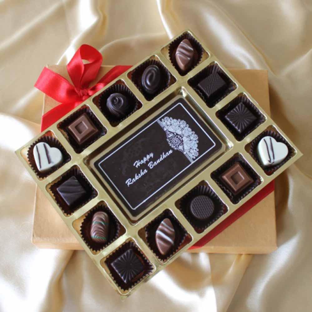 Chocolates & Cookies-Classic Rakhi Chocolate Cheer