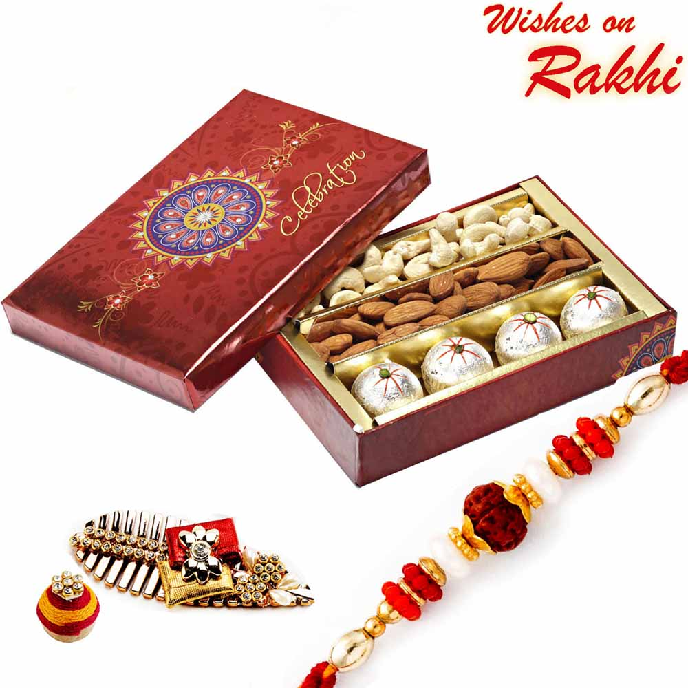 Decorated Box of Kaju Laddoos