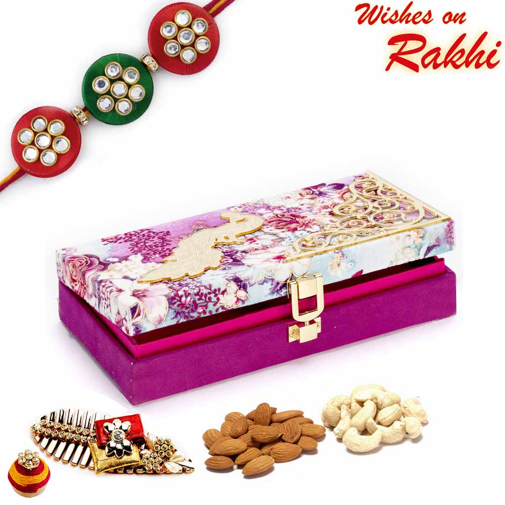 Purple Floral Dryfruit Box