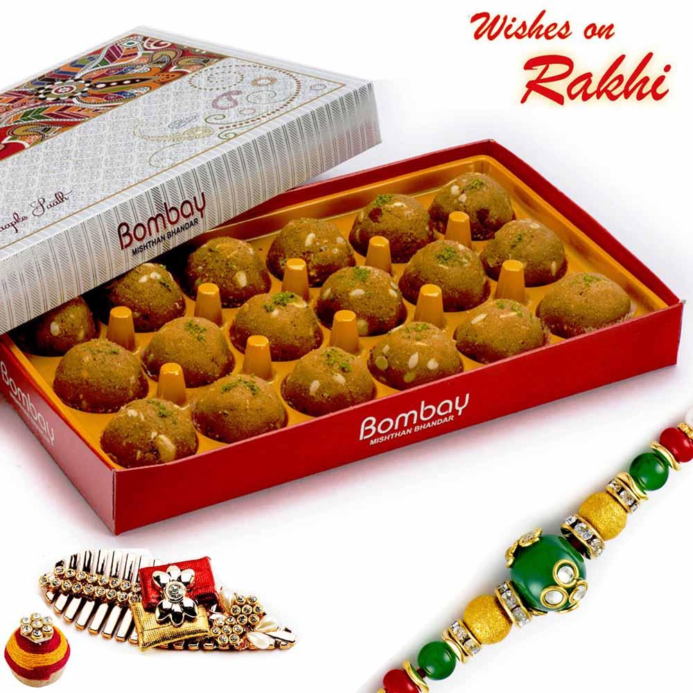 Rakhi Hampers-Premium Besan Laddu Pack